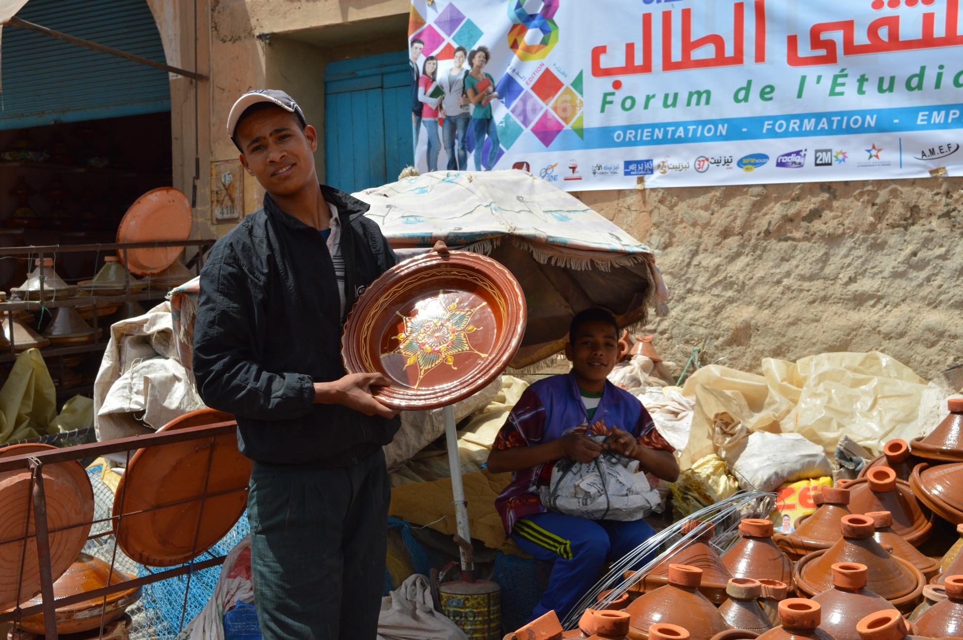 Souk - Tajine und Tonwaren Händler